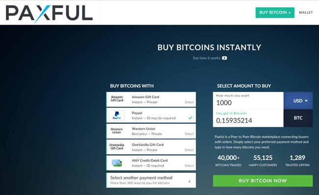 how to buy bitcoin with paxful